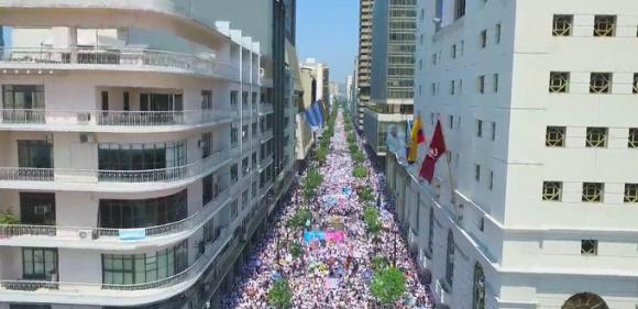 CON MÁS DE UN MILLÓN DE PERSONAS Todo un éxito la «marcha por la vida» en Ecuador