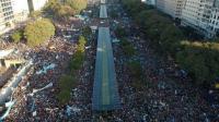 Argentina: multitudinaria manifestación contra el aborto en pleno centro de Buenos Aires